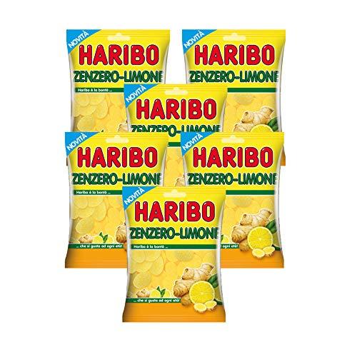 HARIBO Caramelle Zenzero e Limone- 6 Confezioni da 175gr (1050gr)