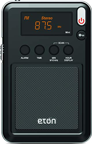 Eton Mini Compact AM/FM/Shortwave Radio, Black