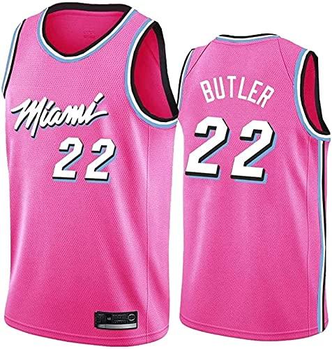 ALXLX NBA Miami Heat 22# Men's Women Jersey - Butler Jerseys Transpirable Baloncesto Baloncesto Swingman Jersey, Pink - L