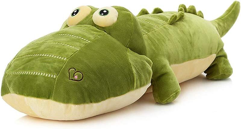 Elfishgo Crocodile Big Hugging Pillow Soft Alligator Plush Stuffed Animal Toy Gifts For Kids Birthday Christmas 25 6