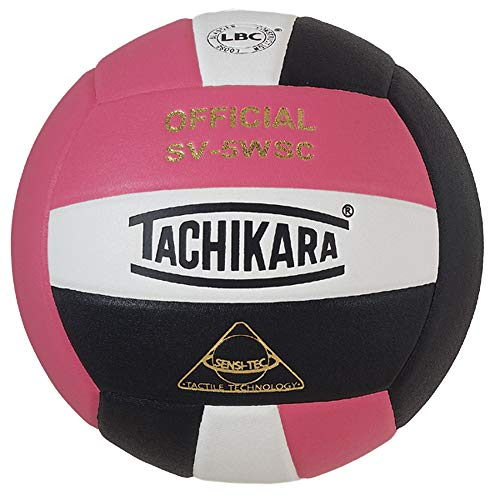 Tachikara SV5WSCPKWB Sensi Tec Composite High Performance Volleyball Pink White Black