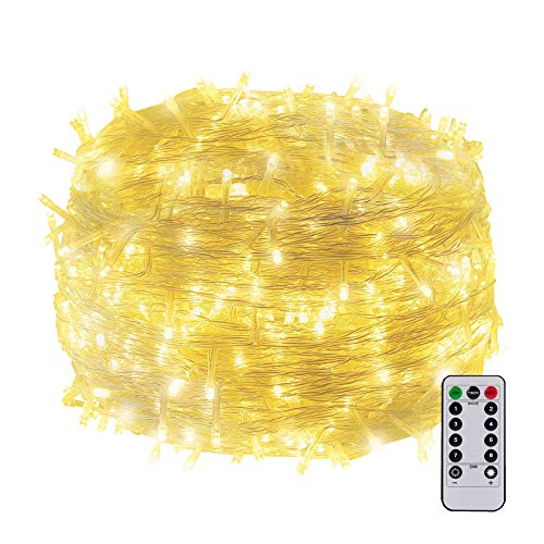 30M 200LED Indoor Fairy Light Battery Powered Christmas Outdoor Tree Light Twinkly Light with Remote Waterproof for Home, Indoor, Room Easter Decor(Warm White)