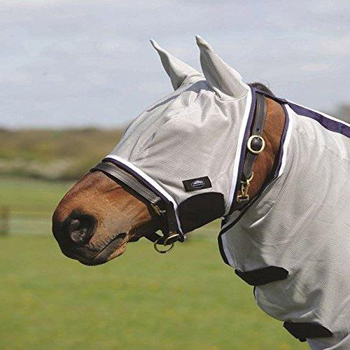 WB Weatherbeeta Softmesh máscara de la mosca hípica protección Hood red todos los colores y tamaños Plateado plata Talla:Pony