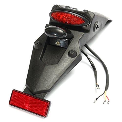 Alamor 12V LED guardabarros trasera de la cola STOP reflector de luz universal para MX Motocross deporte Pit Dirt Bike