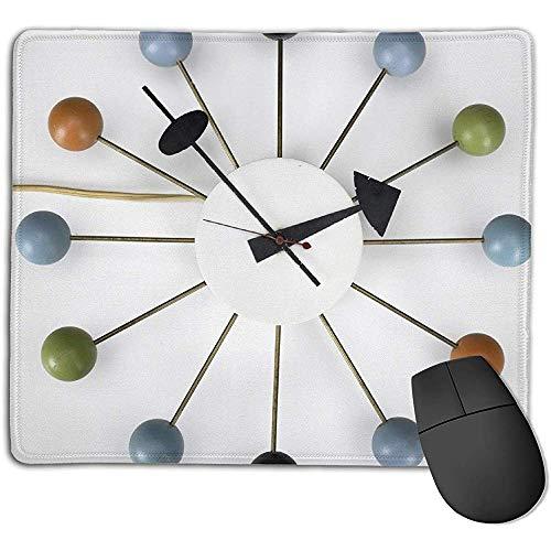 Reloj de Pared Retro de Cocina Vintage con Bolas Multicolores Alfombrilla de...