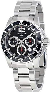 Longines Hydroconquest Black Dial Automatic Mens Watch L3.744.4.56.6