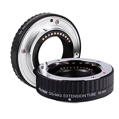 Viltrox Anillo de extensión Macro AF Enfoque automático Tubo de extensión de DG 16mm 10mm Anillo de Montaje Metal para Micro M 4/3 Olympus E-P1 E-P2 E-PL1 E-PL2 Panasonic G1 GF1