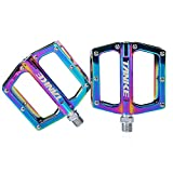 Pedal de Ciclismo 9/16'Rodamiento Sellado Antideslizante Colorido Accesorios de Bicicleta Plataforma Ancha para Bicicleta de Montaña BMX MTB