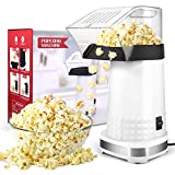 Hot Air Popcorn Poppers Marker,1200W Electric Popcorn Maker with Measuring Cup, No Oil Needed...