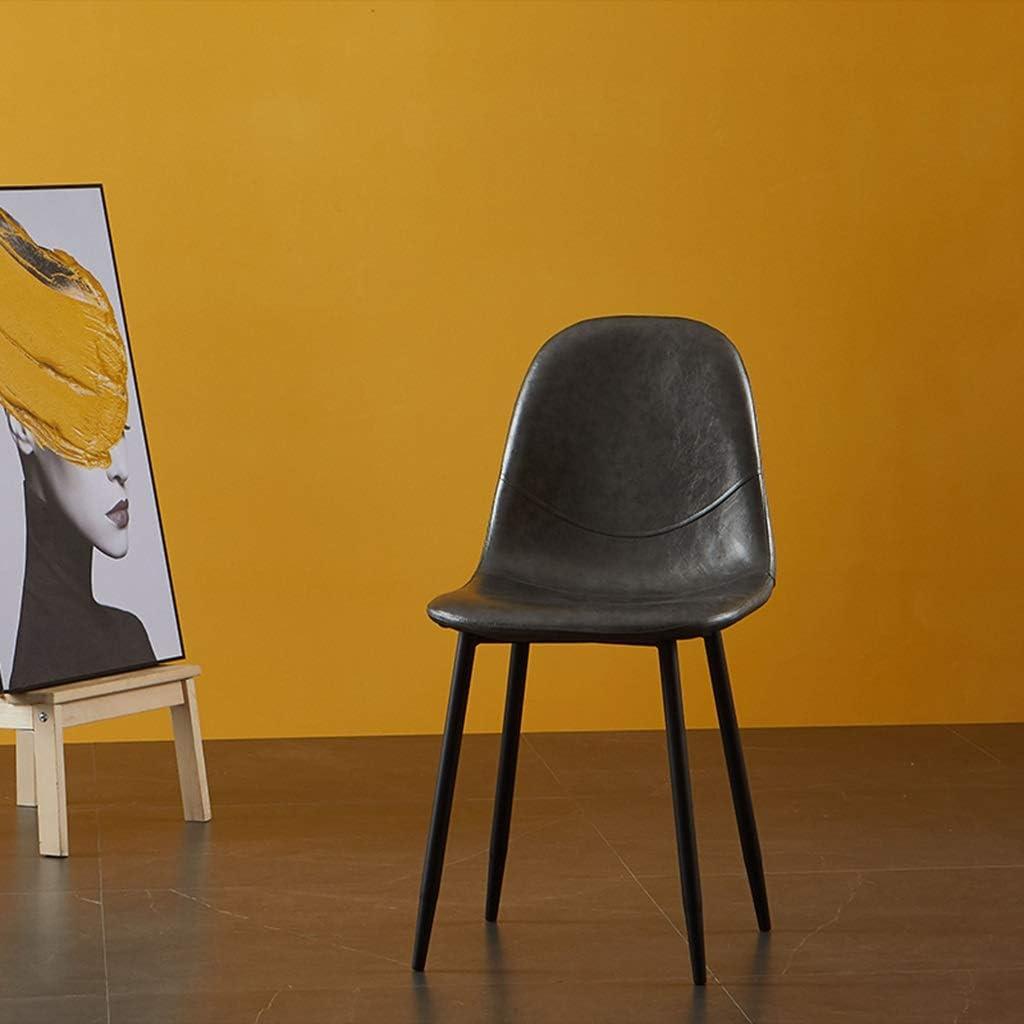 Meubles-Tuqia Chaise de salon de thé, sièges d'unité de ménage, faciles à nettoyer, dossier, chaise, café, salon, meubles de chaise Living Furniture Chaises (Color : #4) #7