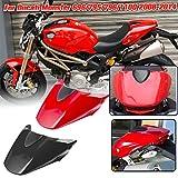 AHOLAA Motociclo Passeggero Posteriore Sella Monoposto Coprisedile Carenatura per Ducati Monster 696/795/796/1100 2008 2009 2010 2011 2012 2013 2014,Monster 1100 796 795 Accessori moto (Rosso)