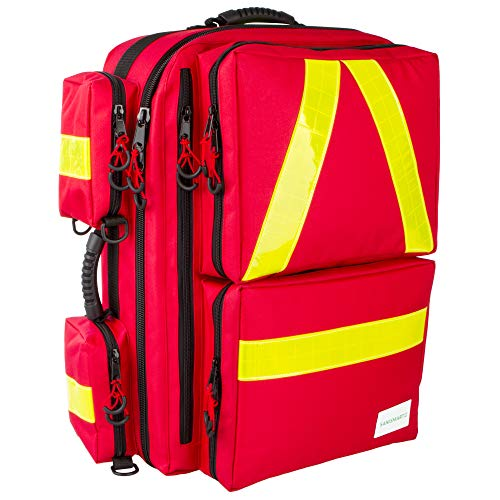 Mochila de emergencia Medicus XL, color rojo, nailon, 65 x 42 x 23, 65 l de volumen