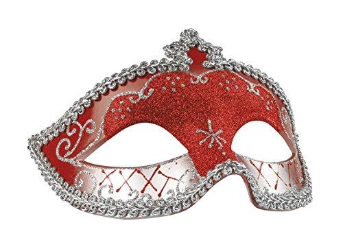erdbeerclown- Damen Kostümzubehör Augenmaske Corona , Rot