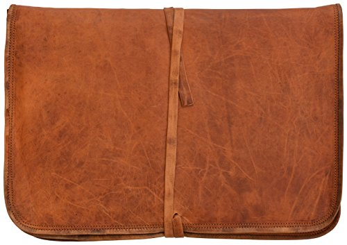 Gusti Cuir nature - Housse ordinateur portable Chris Pochette Notebook 15' Porte-documents vintage unisexe en cuir de chèvre Marron L7