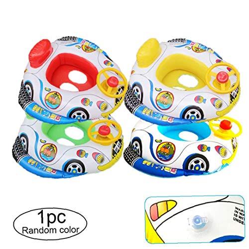 Barco De Bebé 1pc Piscina Inflable De Juguete Que Nada Bebé del Anillo del Flotador De Diseño del Coche Seguro Lindo De PVC Ayuda De La Natación para Los Niños Hijos De 2-5 Años (al Azar)