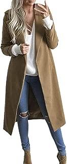 Long Coat Women Lapel Parka Overcoat Winter Outwear Jacket Warm Cardigan