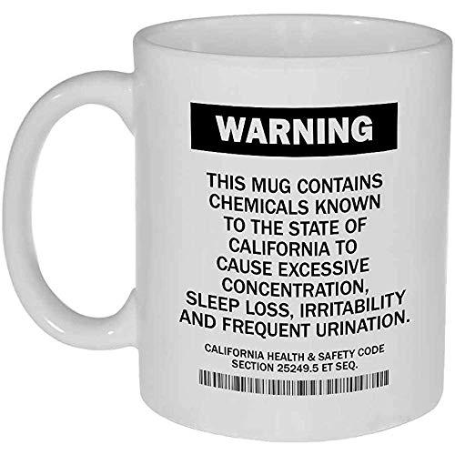 Kalifornien, das lustige Kaffee-oder Tee-Tasse warnt
