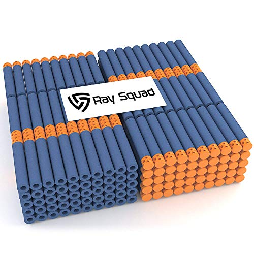 Ray Squad Waffle Darts 300-Pieces Set, Ultimate Nerf Foam Toy Darts, Premium Refill Bullets for N-Strike Guns, Universal Mega Pack, Firm and Safe Nerf Accessories Amazing Precision Control