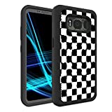 Galaxy S8 Active Case (Not Fit S8), Spsun Dual Layer Hybrid Hard Protector Cover Anti-Drop TPU Bumper for Samsung Galaxy S8 Active,Checkered Flag