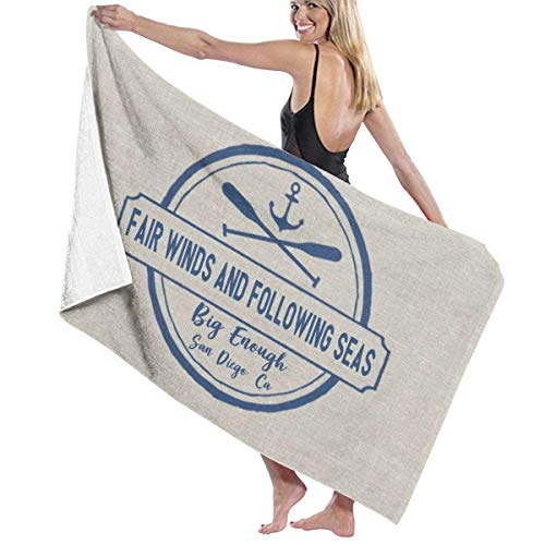 Hdadwy Weiche, Bequeme, große Badetücher, super saugfähig, schnell trocknend zum Strand-Surfen, Schwimmen, Hotel-Spa, Yoga, benutzerdefiniertes Badeschiff für Seeschiffe