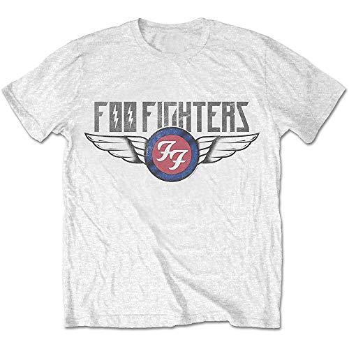 Rock Off White Foo Fighters Dave Grohl Logo Officiel T-Shirt Hommes Unisexe (Large)