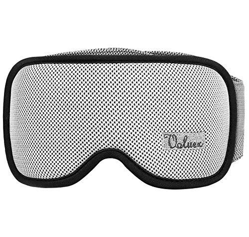 Schlafmaske Damen und Herren, Voluex NULL-Druck 3D konturierte Schlafbrille Nachtmaske,100% blockiert Licht, atmungsaktive Memory-Schaum Augenmaske, verstellbares Stirnband, Inklusive Ohrstöpseln