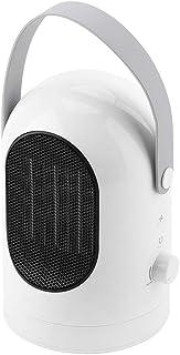 Calefactor de cerámica portátil de 600 W, ventilador personal frío y caliente de 3 velocidades, para ajuste de enchufe de la UE AC85-265 V, blanco y negro