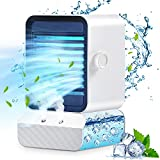 TCFTT Personal Air Conditioner, Mini Air Conditioner,Portable Small ac Unit with 3 Speeds 7 Colors Night Light,Desktop Air Humidifier with Quiet Evaporative Air Cooler for Bedroom,Car,Camping,Office