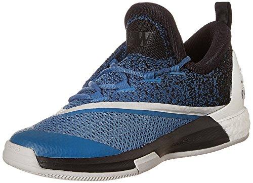adidas Crazylight Boost 2.5 Low Herren Basketballschuhe, Blau / Schwarz / Weiß (Azucap / Negbas / Ftwbla), 44 2/3 EU