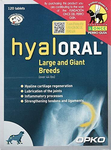 Hyaloral 10x12=120 comp para Perros de Razas Grandes y Gigantes | Suplemento para el dolor de Caderas, Articulaciones y Cartílagos | Complemento Vitamínico para fortalecer Tendones y Ligamentos