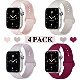 Ruiboo Sport Band Compatible with Apple Watch 38mm 40mm, Soft Silicone Sport Strap