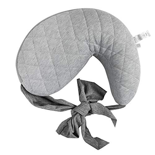 Boppy Anywhere Nursing Pillow - Breastfeeding and Bottle Feeding Support at Home and for Travel - Plus Sized to Petite - Machine Washable - Soft Quilted Gray with Stretch Belt