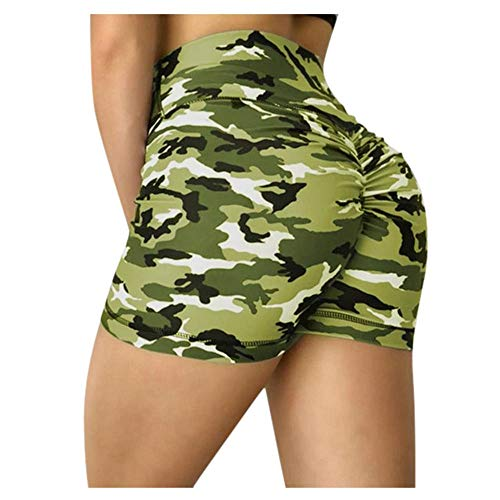 Unterhosen Damen Pantys Damen Frauen Camouflage Jogginghose Push Up High Waist Compression Workout Leggings Atmungsaktive Sportarten Fitness Workout Bleistifthose Short XXXL Green