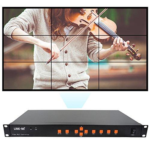 LINK-MI Video Wall Controller 3x3 2x4 4x2 2x3 2x3 2x2 4x1 HDMI+VGA+AV+USB LED/LCD Image Processor Screen Splicing
