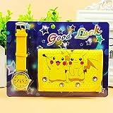 xunlei Reloj Pokemon Anime Cartoon Reloj de proyección de Pokemon de Dibujos Animados creativos Monster Monster Pikachu Picchu Juego de Relojes para niños