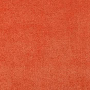 D238 Orange Solid Woven Velvet Contemporary Upholstery Fabric by The Yard from Microtex