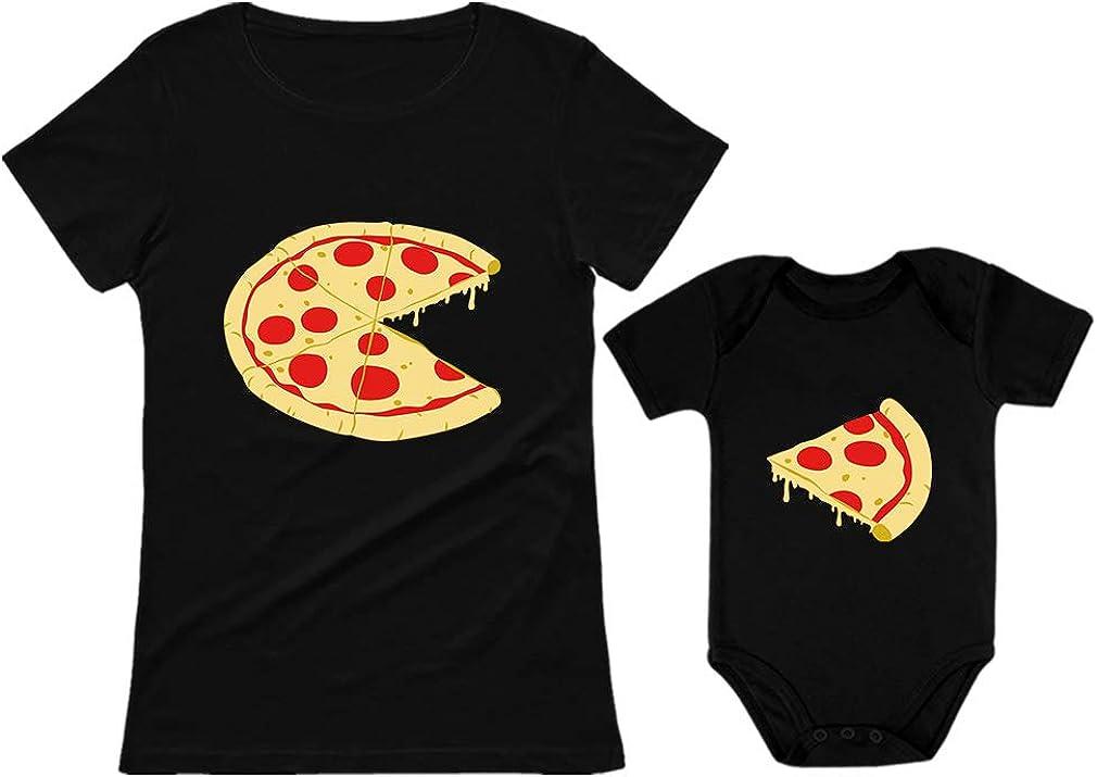 Pizza Pie Slice Baby excellence Popular Bodysuit T-Shirt Women's Set M Matching