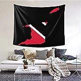 BGDFN Wandbehang, Wanddekoration für Schlafsaal, Schlafzimmer, Wohnzimmer, College, 152,4 cm B x 101,6 cm L, Flagge von Trinidad & Tobago