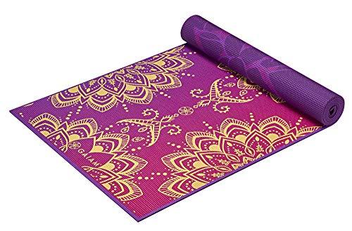 Gaiam Yogamatte, Premium-Druck, wendbar, extra dick, rutschfest, für alle Arten von Yoga, Pilates und Boden-Workouts, Royal Bouquet, 6 mm