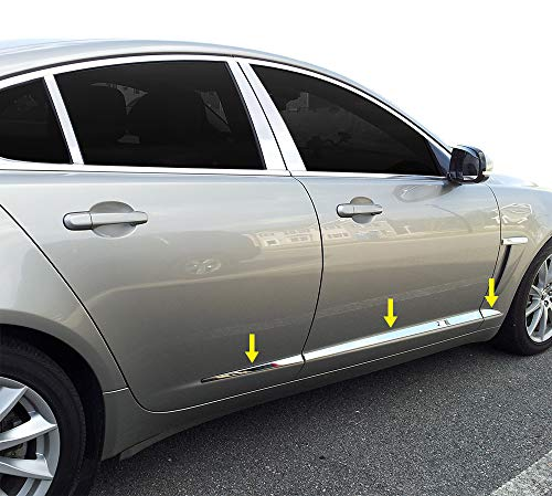 """Made in USA! Works with 2009-2015 Jaguar XF Accent Body Side Molding Trim Overlay 1 1/4"""" Wide 6PC"""