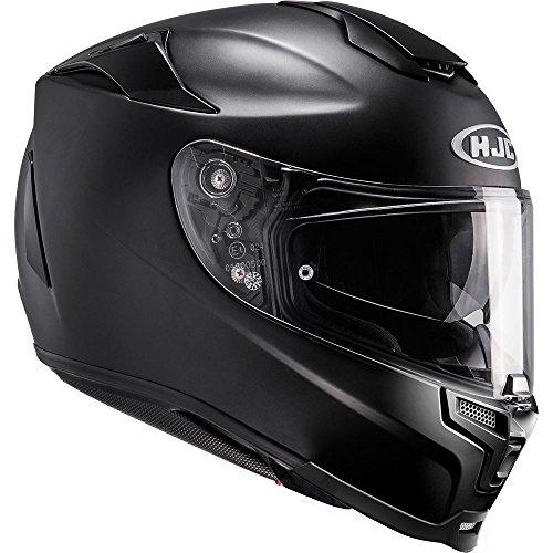 HJC RPHA 70 voll Gesicht Motorrad Touring Helm - MATTSCHWARZ - Schwarz, Medium
