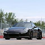 20' HRE Wheels FF01 Flow Form Black Concave Rims Only Set Of 4 Includes Vibe Motorsports License Plate Frames Fits Porsche 991 911 4 4S Turbo