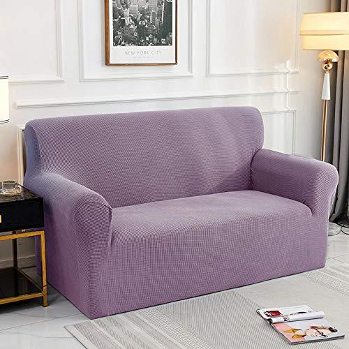 Fsogasilttlv Funda para sofá con diseño Moderno 2 plazas 1 Uds Funda de cojín de sofá de Color sólido Funda de poliéster, Asiento Protector de Muebles para Sala de Estar