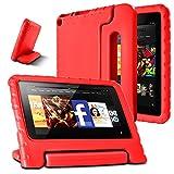 AFUNTA Caso Tablet 7 2015, Peso Ligero a Prueba de Golpes Convertible Handle EVA Protective Kids Case para 7 Pulgadas Display Tablet (5ª generación - versión 2015)- Azul