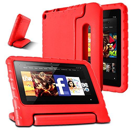 AFUNTA Feuer 7 2015 Fall, geringes Gewicht Shock Proof Convertible Griffhalterung Eva Schutz Kinder-Kasten für Amazonas Feuer 7-Zoll-Display-Tablet (5. Generation - 2015 Veröffentlichung Only) -Red