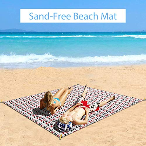 Best Deals! Large Waterproof Outdoor Picnic Blanket, Grungy Calligraphic Hugs and Kisses XOXO Letter...