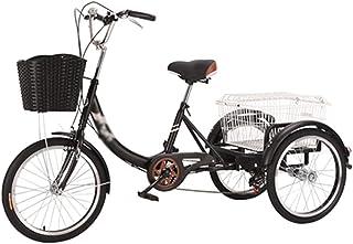 Jlxl Trehjulingcykel För Vuxna Trehjul Cruisercykel 6 Hastigheter 20-tums Hjul Cargo Basket Höjdjusterbar Cykelstol För Se...