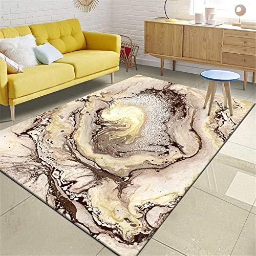 WQ-BBB Alfombras Endotérmica sin desvanecimiento Rugs Abstracto alfombras de habitacion Rosa Amarillo marrón Super Suave El Dormitorioes La Alfombrae 80X160cm