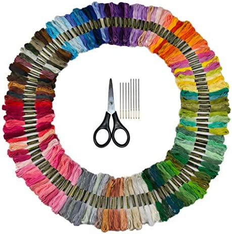 Bulk Rainbow Pack Embroidery Floss 125 Skeins Variegated Colors Embroidery Kit Friendship Bracelet product image