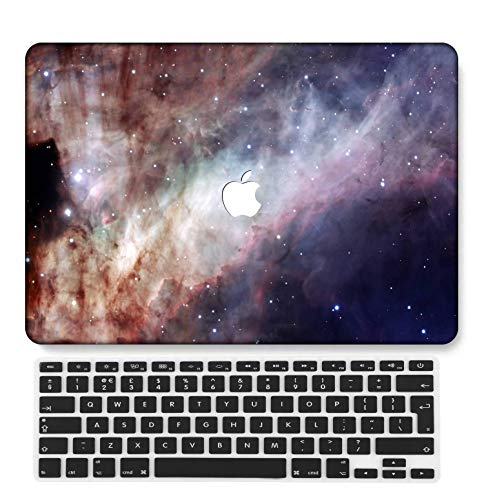 GangdaoCase Plastic Ultra Slim Light Hard Shell Case Cut Out Design Compatible Old MacBook Air 13 Inch with UK Keyboard Cover A1466/A1369 (Galaxy A 48)